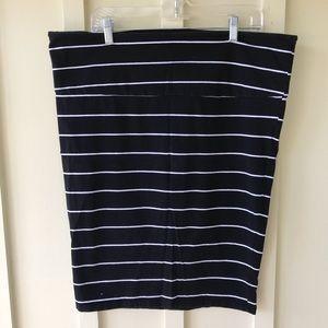 Torrid Striped Cotton Pencil Skirt